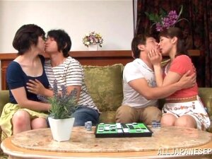 Japanese Style Foursome With Two Bitches Porn