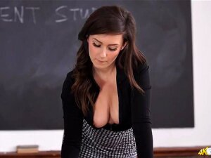 Teacher In A Tight Blouse Flashes Her Tits Porn
