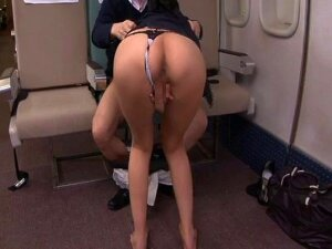 Very Luscious Japanese Stewardess Gets Screwed Hardcore While On Board Porn