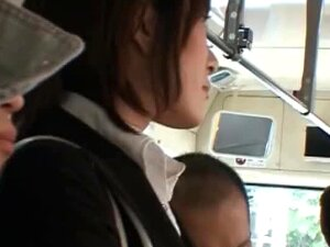 Touching A Sexy Asian's Butt In The Bus Porn
