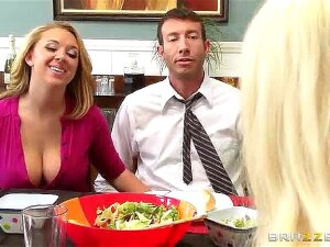 What Are The Odds That The Best, Sluttiest Schoolgirl In Dr. Ash's Class Would Be The Daughter Of The Nymph He Just Began Dating? Having To Spend His Days Avoiding Staring Down Brooke Wylde's Bosom Is One Thing, But Keeping His Eyes And His Hands Off Her Big Innate Breasts Over Dinner Was Praying Way Too Much. When Brooke Cropped Out His Penis During Dinner And Began Jerking Him Off, Jordan Let It Happen, And As Shortly As They Had A Moment Alone Titfucked Brooke's Big Globes. Right There On The Dinner Table, Jordan Laid Into Brooke From Behind, Ravaging Her Ideal Teenager Gash And Making This Tiny Slut Shriek For More! Porn