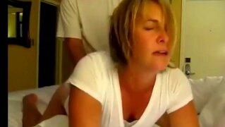 REAL HOMEMADE FAMILY TABOO SEX - STEPMOM FUCKS SON