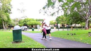 ExxxtraSmall - Hot Ebony Bounces on Huge Cock