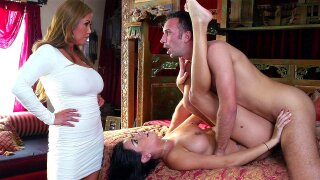 Kianna Dior barges in right as Keiran is balls deep in her step daughter Nadia Capri