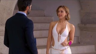 Aracely Arambula seduces a man  with a sexy dress 2019