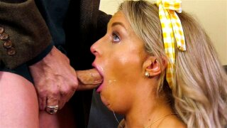 Kate Kennedy gives masterful blowjob to Filthy Rich