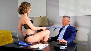 Kimmy Granger seduces her husband's boss Mick Blue