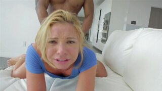 BLACKED Hot Blonde Teen Takes Huge Black Cock