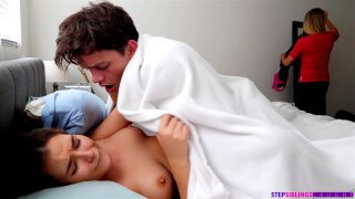 Stepsis Caught Step-Brother On Getting Off