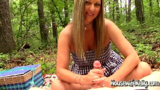 """""""Sexy Wife gives an epic Outdoor Handjob"""""""