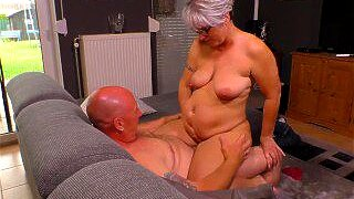 """AmateurEuro - Chubby Mature German Wife Rides Cock While Husband Works"""