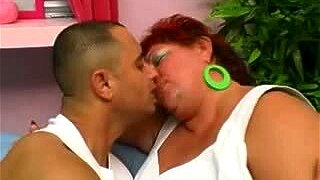 Fat Redheaded Grandma Gets Her Big Puss Pounded
