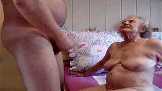 Chubby old granny fucked by chubby guy