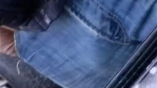 bulge papi dick blue jean nasty uucut daddy dick horny ready to fuck hairy