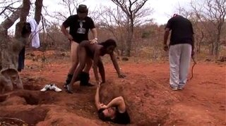 African girl gets banged by white guys