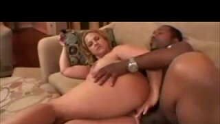 Wife gets first big fat black cock in her ass