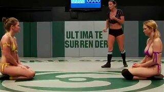 Hot girls naked wrestling