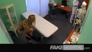 FakeHospital - Blonde tourist gets examined