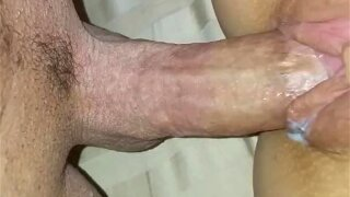 HUGE CREAMPIE my neighbor CUMS IN MY DIRTY HOTWIFE pussy while husband@work