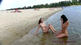 Found these two teens sunning their bits at south nude beach