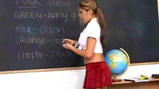 Naked Asian schoolgirl pussy fucked