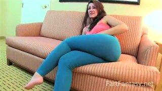 Savannah Fox Farting Stinks Up Yoga Pants