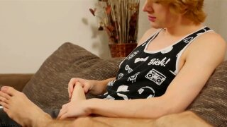 Amazing bare fucking session with cute twink toe lovers