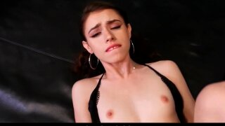 Tiny Step Daughter Lucie Cline Seduces Her Dad For Money