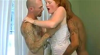 """Two brutal cocks for sweet redhead amateur"""