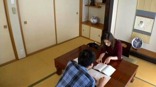 Japanese Aunt Home Tutor Who Saw A Hot And Hard Boy (Censored, sorry!)